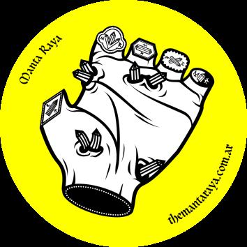 MANTA RAYA HAND STICKER